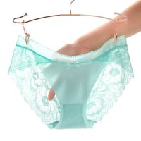 Lingerie Underwear mulheres Pantie Sexy Calcinha Sexy Breve Respirável Algodão Gusset Panty Doce Cor Ultra Sheer Hipster