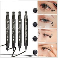 Double Side Eyeliners Design Stamp Thick Black and Quick Dry...
