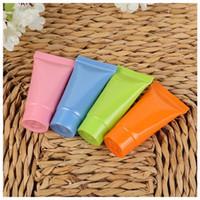 5ml 10ml souple en plastique Lotion Rechargeables squeeze Emballages cosmétiques Crème Bouteille Vis Couvercles protable Container 0109