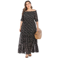 Party Plus Size 3XL 4XL 5XL Flower Printed Maxi Dresses Wome...