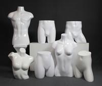 Estilo de moda Fiberglass Gloss White Mannequin Torso Modelo Torso Fábrica Venta directa