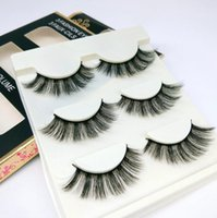 3D Mink False Eyelashes 3 Pairs set Natural False Eyelashes ...