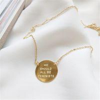 100% 925 d'argento piatto rotondo delle collane del pendente per le donne Belle gioielli regali di nozze d'oro di colore