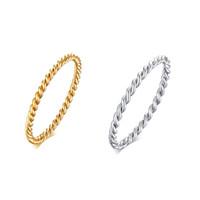 Edelstahl Unisex Klassische Twist Ring Tägliche Mode Vintage Persönlichkeit Japanische und koreanische Ringe für Party Geschenk Schmuck Großhandel