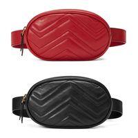 الجملة الجديدة أزياء بو الجلود حقائب ماركة حقائب اليد مصمم فاني حزم الشهيرة الخصر حقائب يد سيدة حزام الصدر حقيبة 4 ألوان