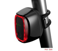 Smart Bicycle rear back led Light rechargeable Wireless cont...
