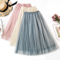 Women' s Skirts Black Gray White Adult Tulle Elasticated...