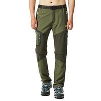 Pantaloni da trekking da uomo Pantaloni da pesca all'aperto SREETCH impermeabile antivento da campeggio jogger a secco a secco rapido