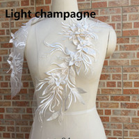 50 cm * 20 cm Suda Çözünür Nakışlı Dantel Aplike Avrupa Boncuk Dantel Trimler Düğün Dekorasyon Elbise DIY Sewinig Aksesuarları LP005