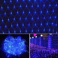 LED NET LUMIÈRE 220V 2M * 2M 144ELÉS STRING NET LUMIÈRE ÉTÉRIEUR DE VACANCES Décoratives décoratives décoratives de Noël Fairy Light