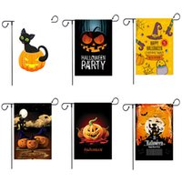 30 * 45 cm Halloween Garten Fahnen 6 Arten Kürbis Ghost Party Home Decor Outdoor Hängen Garten Fahnen Halloween Dekorationen Baumwolle Leinen