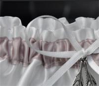 Sposa Reggicalze Silver Leaf giarrettiere nozze Patty Forniture panno bianco di Bowknot caldo di vendite creativo decorazione del merletto design 7DY C1