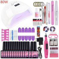 COSCELIA Manicure Set 80W UV LED Lamp With 10PC Gel Nail Polish Nail Kit Electric Drill Machine Art Tools For Manicure