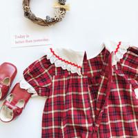 2020 горячие продажи платья для девочек Tonytaobaby летнее платье новый ребенок хлопок тканый плед платье идиллическое платье для девочек