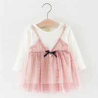 Baby Girls Clothes Long Sleeve Girls Dress Baby Kids Girls B...
