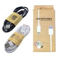 Bonne qualité prix de 1 M pas cher Micro Câble mini USB micro V8 1M 3FT données Sync cordon Câble avec emballage vendu au détail pour Samsung note 8