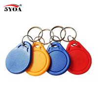 100 pcs 13.56 MHz IC M1 S50 porte-clés balises RFID clé carte Finder Token gestion de présence Keychain ABS imperméable