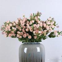 Tek Şubesi Yapay Çiçek Sahte Çiçek Simülasyon Küçük Rosess Bud Dekorasyon fazla Renk Sıcak Satış Yaratıcı 7thC1 Malzemeleri Rose