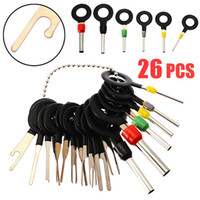 26pcs Automotive Plug Terminal Remove Tool Set chiave del circuito Cablaggio Terminal Estrazione pick Crimp Pin Ago Rimuovere Kit Set Car
