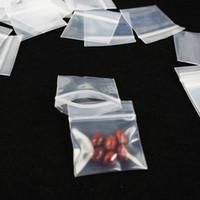 Sacchetti di imballaggio di plastica Mini, più spesso gioielli trasparente Pacchetto Satchel Zip Bag, bagagli Herb Tabacco Zipper tasca della serratura riutilizzabile