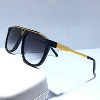 MASCOT 0937 sunglasses Popular Retro Vintage unisex style Z0936E Sunglasses Shiny Gold Summer Style Laser Gold Plated Come With box