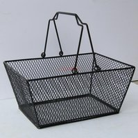 10pcs Black Cosmetics Storage Baskets Hollowed Out Design Sk...