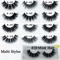 50Pairs In vendita 3d Mink Lashes lunga mano trucco naturale 3d falso ciglia striscia completa False Lashes Make Up Tools