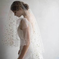 Twigs & Honey Bridal Veils With Cut Edge Fingertip Length St...