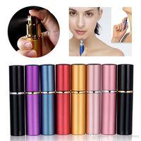Doldurulabilir Parfüm Atomizer Seyahat Şişeleri Parfüm Sprey Şişeleri Ev Kokuları Şişeleri BH2185 TQQ 5ml Alüminyum Parfüm Şişesi Smooth