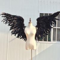 De haute qualité cosplay jeu props plume adulte Black Devil ailes barre de mariage de la photographie Décorations props livraison gratuite à la main pure