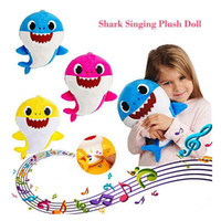 Baby Shark Plush Toys with Music 3 Colors 30cm Stuffed Anima...
