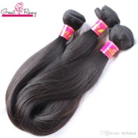 "Greatremy 100% malaisienne Human Hair Extensions Remy Human Hair Bundles 16 ""18"" 20"" 3pcs Couleur naturelle Double Trame Silky cheveux raides"