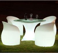 LED القابلة لإعادة الشحن ليلينات الترفيه كرسي كرسي كرسي متوهجة أدى كرسي غرفة المعيشة أثاث بار ديسكو صوفا صالون