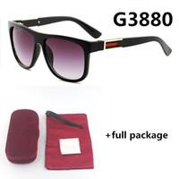 3880 جديد مصمم أزياء نظارات الرجال والنساء حمراء العلامة التجارية النظارات 6 ألوان مع مربع حقيبة القماش