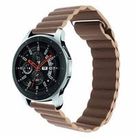 Milanese حلقة جلدية Watchband 22mm 20mm لسامسونج غالاكسي ووتش 46mm 42mm الفرقة النشط سوار الإفراج السريع حزام سوار