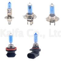 2X blu della luce H1 H3 H4 H7 H9 H11 9005 HB3 9006 HB4 Auto lampadina alogena Fari 55W 100W 12V Super White Headlights Lamp
