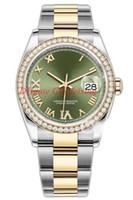 8 Estilo Menor Versão Lady Watch 36mm 126283RBR 126283 126284 126234 126231 Diamante Movimento automático Mens Montre de Luxe Presente com caixa