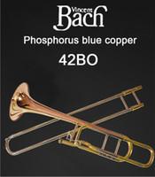 Amerika Birleşik Devletleri BACH 42BO Trombon damla B dönüş F Fosfor Bakır Profesyonel trombon aletleri