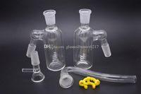 Glass Bong establece J gancho de adaptación 14mm j engancha tubo de vidrio tamaño de la junta colector de cenizas hembra y cuencos precio al por mayor