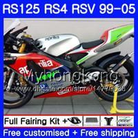 RS125R ل Aprilia RS 125 1999 2000 2001 2002 2003 2005 318HM.1 RSV125R RS4 RS-125 RSV125 R RS125 Green silver 99 00 01 02 03 04 05 Fairing