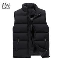 Chaleco delgado caliente grueso HanHent Ropa de invierno hombres ropa de abrigo Chaleco sin mangas 2018 de Calle abrigos chaquetas del tamaño grande