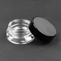 Wholesale 3ml 5ml Glass jar storage jar Wax Container black ...