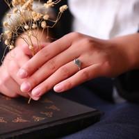 Vendita calda Fashion Jewelry delle signore alla moda anello elegante epoca Rosa Fiore cerimonia nuziale di aggancio Women Size Jewelry 5-10 Anelli