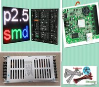 spedizione gratuita fai da te al LED display video 10 pz P2.5 indoor Full Color Led Module (160 * 160mm) + controller led RGB + alimentatore
