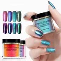 1 Bottiglia Chameleon Dip polvere brillante olografico specchio di arte del chiodo Pigmento Glitters Tatuaggi o immersione Sistema naturale secca 2020