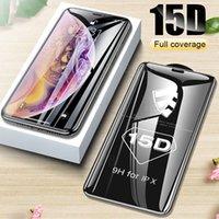15d vidro protetor no iPhone 11 pro max xr x xs tampa completa capa iphone 11 pro max protetor de tela de vidro temperado