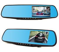 السيارات السيارات dvr كاميرا مزدوجة عدسة كاملة hd 1080 وعاء وقوف السيارات مسجل فيديو لوازم الكلب الإلكترونية عكس الصورة