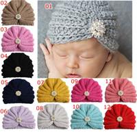 Natale Natale Ins maternità Baby hat berretti a maglia 100% cotone strass indiano cappelli all'uncinetto cappelli invernali protezione cappelli