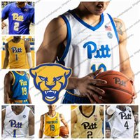 2019 Pittsburgh Panthers New Branding Maglia da basket 21 Terrell Brown 11 Sidy N'Dir 5 Au'Diese Toney 3 Malik Ellison PITT S-4XL