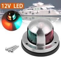 2 en 1 LED 316 de acero inoxidable arco de luz de navegación marina del barco Yate semáforo luz 12V Barco Indicador Rojo Verde
